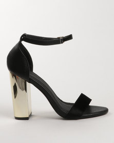 Dolce Vita Pego Block Heel Sandals Black
