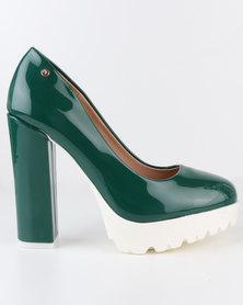 Dolce Vita Cataluna Block Heel Platform Court Shoe Green