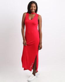 ECKÓ Unltd Choker Dress Red