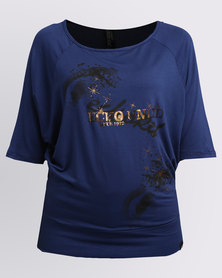 ECKÓ Unltd Symmetrical Tunic Top Blue