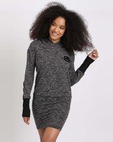 ECKÓ Unltd Hooded Dress Charcoal