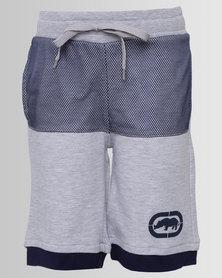 ECKÓ Unltd Boys Mesh Fleece Shorts Grey