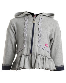 Eco-Punk Certified Organic Zippy Hoody Grey