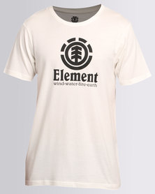 Element Vertical Short Sleeve Tee White