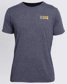 Element Seismic Short Sleeve Crew Tee Blue
