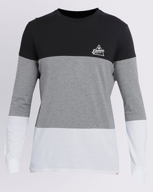 Element Bodean Colourblock Long Sleeve Tee Multi