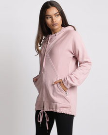 Elm Modernist Zip Thru Hoody Pink