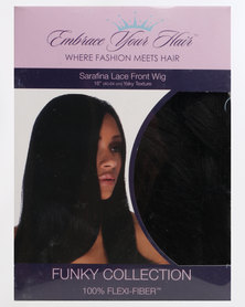 EMBRACE YOUR HAIR Sarafina Lace Front Wig Silky Black
