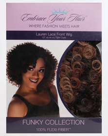 EMBRACE YOUR HAIR Lauren Lace Front Wig Charcoal Caramel