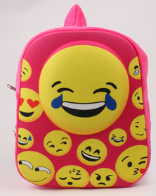 Emoji Girls Backpack Set with Purse, Crayons & Colouring Book