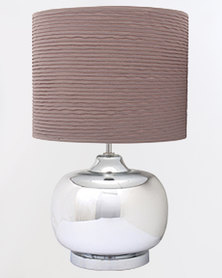 Eurolux Round Glass T/Lamp with Shade Brown