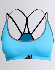 Everlast Sportswear Low Impact Crop Top With Single Strap Detail Blue