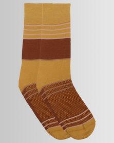 Falke City Stripes Socks Gold