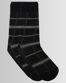 Falke Grid Check Socks Black