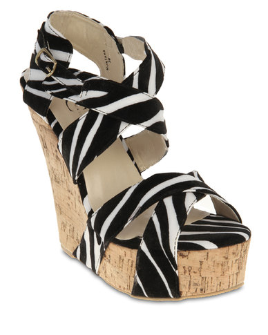 FFC New York Muntaha Animal Print Wedges Multi