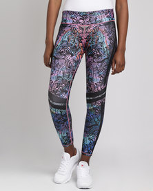Fiber Activewear Colombian Leggings Printed Floral