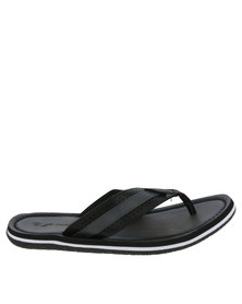 Floater Slade Flat Toe Thong Sandal Black
