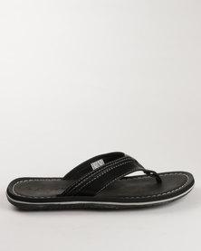 Floater Sergio Flat Toe Thong Sandal Black