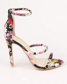 Footwork Hayden Printed High Heel Sandal Black Floral