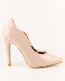 Footwork Aliya High Heel Court Shoe Nude