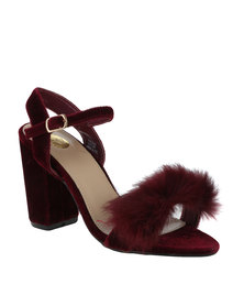 Footwork Heather Block Heel Sandal With Tassel Burgundy