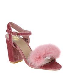 Footwork Heather Block Heel Sandal With Tassle Pink