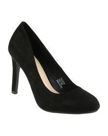 Footwork Tulip Heeled Court Shoe Black
