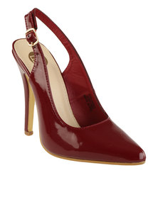 Footwork Dahliah Slingback Court Heel Burgundy