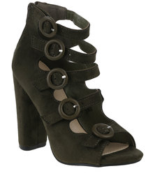 Footwork Calia Heeled Sandal Khaki