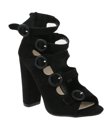 Footwork Calia Heeled Sandal Black