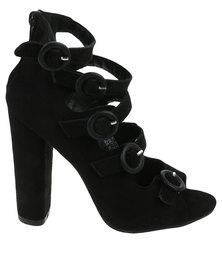 Footwork Calia Heeled Sandal Black