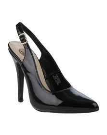 Footwork Dahliah Slingback Court Heel Black