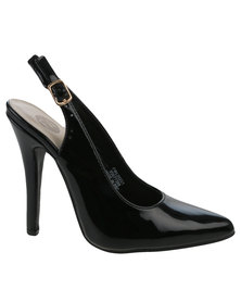 Footwork Dahliah Slingback Court Heel Black