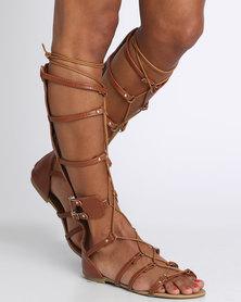 Footwork Gaga Flat Sandal Brown