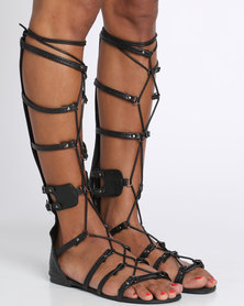 Footwork Gaga Flat Sandal Black