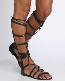 Footwork Gaga Flat Sandal Black