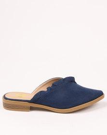 Footwork Lupita Flat Slip On Shoe Navy