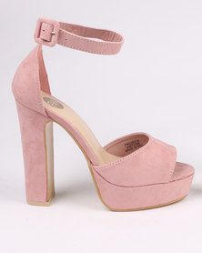 Footwork Leighton Block Heel Platform Sandal Rose