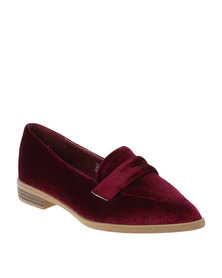 Footwork Rue Casual Flat Moccasin Shoes Burgundy