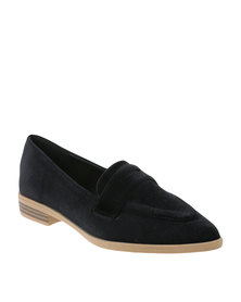Footwork Rue Casual Flat Moccasin Shoes Black