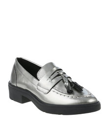 Footwork Sorral Casual Flat Moccasins Silver
