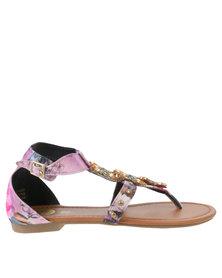 Footwork Missie Flat Sandal Purple