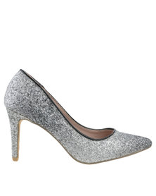 Footwork Rosie High Heel Court Silver