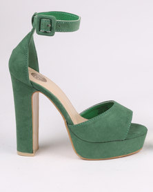 Footwork Leighton Block Heel Platform Sandal Green