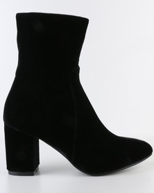 Footwork Rose Heeled Ankle Boot Black