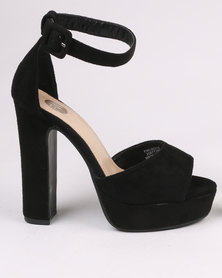 Footwork Leighton Block Heel Platform Sandal Black