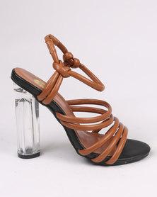 Footwork Reese Block Heel Sandal Brown