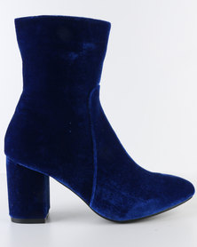 Footwork Rose Heeled Ankle Boot Blue