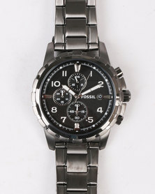 Fossil Dean Chronograph Stainless Steel Watch Smoke
