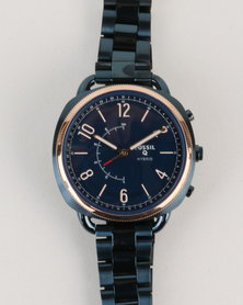 Fossil Q Accomplice Stainless Steel Strap Watch Blue